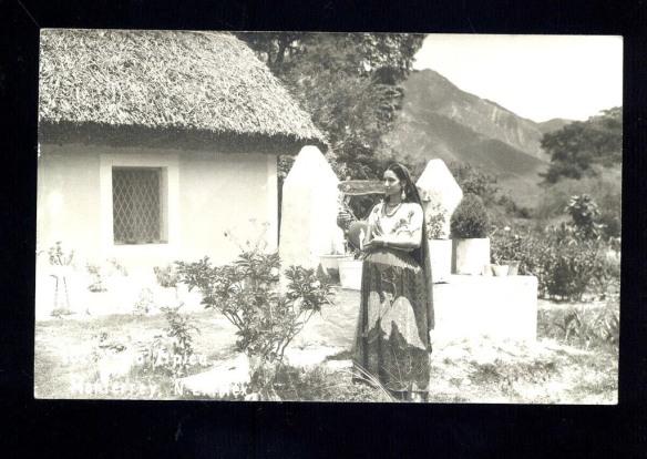 Vintage Mexican Postcard China Poblana (Teyacapan) by Teyacapan